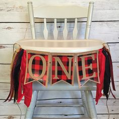 Lumber Jack birthday party buffalo plaid by GoldenArrowBoutique