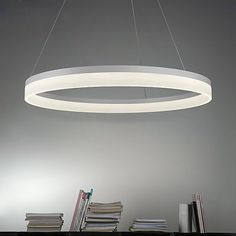 Circle Pendant Light Ambient Light Painted Finishes Metal Acrylic LED Warm White / White / Dimmable With Remote Control Cheap Pendant Lights, Modern Pendant Light, Chandelier Pendant Lights, Luminaire Led, Lampe Led, Ceiling Light Fixtures, Ceiling Lights, Lighting Suppliers, White Led Lights