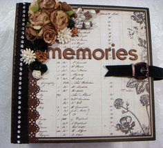 TPHH Sharon Chipboard PRIMA Vintage Keepsake Scrapbook Photo Album ~Video #PRIMAEngraverCartographer
