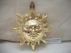 Vintage Sun Face Christmas Ornament Holiday by ALEXLITTLETHINGS