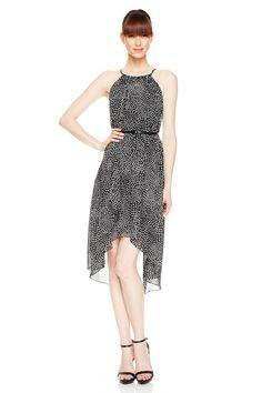 Chiffon Dot Halter Dress at Chiffon Dot Halter Dress- Final Sale - LBD at Maggy London $59 (Item number: g0403mxe)