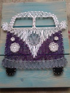VW Bus String Art by NailedAndHammered on Etsy