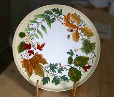 Feuilles d'automne - modèles à peindre sur porcelaine