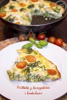 Frittata z brokułami i kurczakiem http://ulubioneprzepisy.com/2015/01/28/frittata-z-kurczakiem-brokulami/