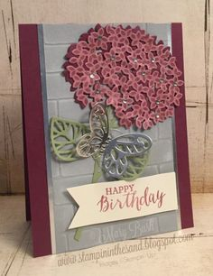 Thoughtful Branches Hydrangea Birthday by MaryEB - Cards and Paper Crafts at Splitcoaststampers