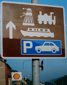 sign in Llangollen, Wales.
