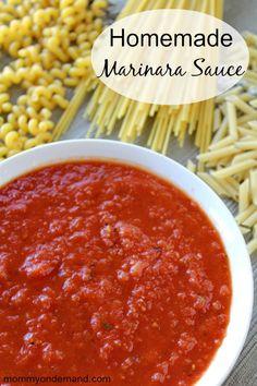 Homemade Marinara Sauce|Mommy on Demand #marinara #easy #homemade marinara