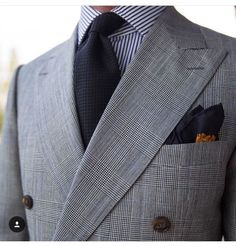 """paul-lux: """"Clean masculine lines - signature of DB That was my second one and I like every bit as the other two I have Dress Suits For Men, Suit And Tie, Men Dress, Mens Fashion Suits, Mens Suits, Terno Slim, Suit Combinations, Mode Costume, Mens Gear"""