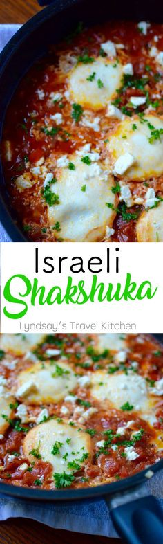 Shakshuka [Israel] - Lyndsay's Travel Kitchen. Try this flavorful red pepper and tomato with eggs dish from Isreal. Great for Passover because you can dip matzoh into the sauce!