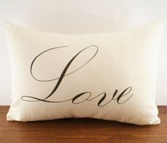 Love. Perfect for an accent pillow on your bed.