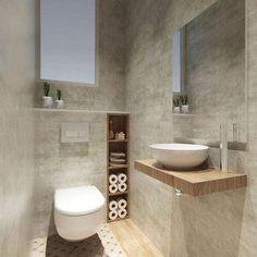 37 Space Saving Toilet Design for Small Bathroom Secrets homedecorsdesign Small Downstairs Toilet, Small Toilet Room, Guest Toilet, Downstairs Bathroom, Diy Bathroom Decor, Bathroom Layout, Bathroom Ideas, Cloakroom Toilet Small, Bathroom Hacks