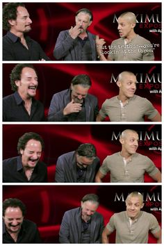 I die laughing EVERY time. Theo Rossi, Kim Coates, Tommy Flanagan. Sons of Anarchy