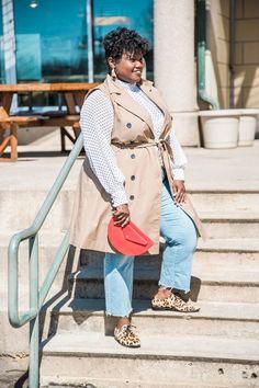plus size clothing, plus size fashion, plus size, trench coat, sleeveless trench coat, plus size coats, plus size trench dress, polka dots, sheer blouse, polka dot blouse, polka dot top, NYDJ, crop jeans, brougues, leopard print oxfords, leopard print, plus size blogger, plus size blogs, curvy, curvy bloggers, curvy blogs, curvy women, curvy bloggers, curvy girl, curvy girl blogs