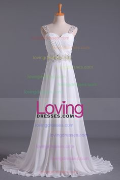2016 White Wedding Dress Sweetheart A Line Pleated Bodice With Detachable Straps…