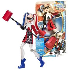 Product Features Includes: Harley Quinn with Mallet Doll measured approximately 12 inch tall. Produced in year 2017 For age 6 and up Product Description Year 2017 DC Super Hero Girls Series 12 Inch Doll Figure - Harley Quinn with Mallet Super Hiro, Dc Superhero Girls Dolls, Dc Comics Collection, Harley Quinn Drawing, Margot Robbie Harley Quinn, Disney Dolls, Barbie Dolls, Best Friend Drawings, Blue Aesthetic Pastel