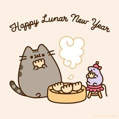 Happy Lunar New Year – Pusheen Pusheen Gif, Penguin Drawing, Happy Lunar New Year, New Years Eve Weddings, Cat Character, Famous Cartoons, Quotes About New Year, Animal Jam, All About Cats