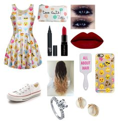 """Emoji❤️"" by anastasia-bierly on Polyvore featuring Smashbox, Converse, Casetify, Kate Spade and BERRICLE"