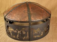elk fire pit with copper cover
