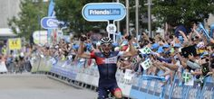 Stage 5 winner Matthias Brandle Matthias Brandle of the IAM Cycling team held on for victory in Exeter, attacking his breakaway companions on the final SKODA King of the Mountains to take the win in front of packed crowds in the city centre.