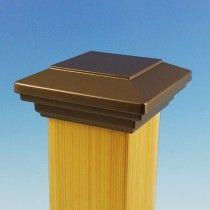 flat top modular aluminum post cap bronze