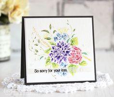 Laurie Schmidlin: Altenew Blooming Bouquet and Heartfelt Sentiments stamp sets; Gansai Tambi Watercolor Paints
