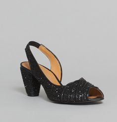 Jancovek Black Swing Open Toes on sale at L'Exception