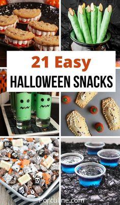 Halloween Class Treats, Easy Halloween Snacks, Halloween Desserts, Halloween Food For Party, Halloween Foods, Halloween Games, Halloween Stuff, Fall Halloween, Halloween Decorations