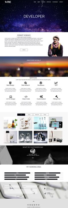This is a one page Portfolio Template. If you want to get like this go to the link and order for only $10.
