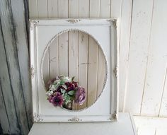 Rustic White and Gold Picture Frame, Farmhouse Antique White Wedding Frame, Shabby Chic Open Frame, Off White Nursery Frame Painted Picture Frames, Gold Picture Frames, Theme Ideas, Decor Ideas, Nursery Frames, Frame Gallery, Open Frame, White Nursery, Rustic White