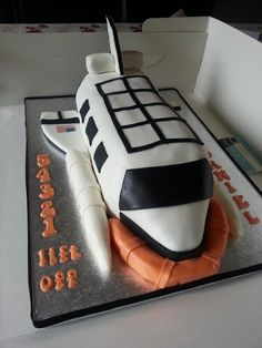 Outstanding 25 Best Space Shuttle Cakes Images Space Shuttle Rocket Cake Personalised Birthday Cards Vishlily Jamesorg