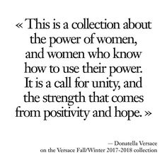 #DesignersQuotes Donatella Versace on the Versace Fall/Winter 2017-2018 collection @versace_official @donatella_versace #versace #donatellaversace #MFW  via VOGUE PARIS MAGAZINE OFFICIAL INSTAGRAM - Fashion Campaigns  Haute Couture  Advertising  Editorial Photography  Magazine Cover Designs  Supermodels  Runway Models