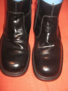 MEN'S SHOES BLACK SKECHERS ANKLE BOOTS SIZE 11H #SKECHERS #AnkleBoots