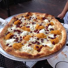 An unusual mix of butternut squash, ricotta cheese, and cranberries is not something you might regularly expect to see on a pizza but OTTO just makes it work. Philly Restaurants, Best Vegan Restaurants, Lobster Rolls, Cranberry Recipes, Portland Maine, Road Trippin, Cranberries, Nova Scotia, Main Meals
