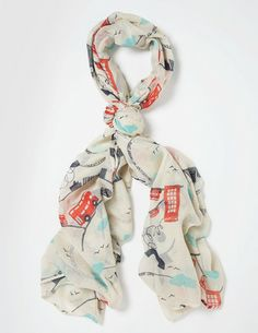 Someone buy me this, please! I've spotted this @BodenClothing Printed Scarf London Bus Print