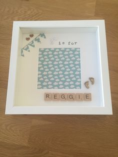 R is for Reggie - personalised memory frame / handmade / scrabble letters - £15.00 plus P&P