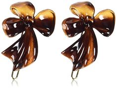 Caravan Rose And Leaf On A Wire Barrettes Pair * Find out more about the great product at the image link.(This is an Amazon affiliate link and I receive a commission for the sales)