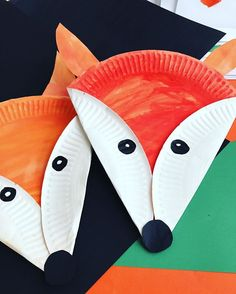 Adorable fox from paper plate!