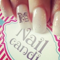 3D Monogram Nail Art Jewels available on our website www.nailcandi.co.za  The ONLY reusable nail art available!  #3DNailArt #NailArtCharms