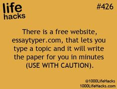 Life Hacks - Useful Websites
