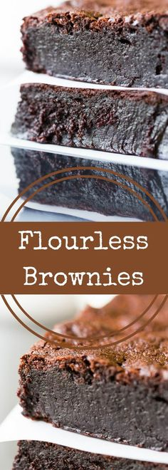You'll love these decadent flourless brownies! Made with absolutely no flour of any kind, they are brimming with intense chocolate flavor and fudginess. via @recipeforperfec