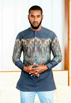 African Wear Styles For Men, African Shirts For Men, African Print Fashion, African Style, African Fashion Dresses, Ethnic Fashion, Men's Fashion, African Attire, African Dress