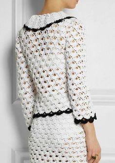 DIY: Blusa e bolero de crochê | Look | Moda | Fashion | Dresses | Casaquinho de Crochê | Chanel
