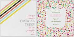 sweet invites from Mr. Biddington's Nephew/Paperless Post