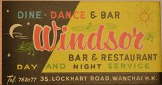 Windsor bar,Wanchai