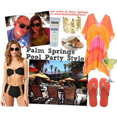 Palm Springs Pool Style by thriftychicla on Polyvore