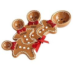 gingerbread measuring spoons - how cute are these?!