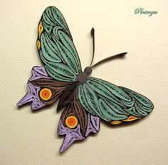 Quilled butterfly by pinterzsu.deviantart.com on @DeviantArt