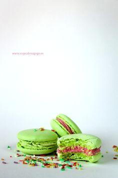 Electric green macarons