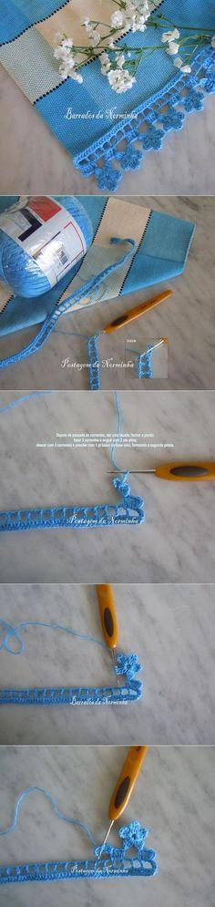 Knitulator sucht #Häkelideen: Schöne Borte für Tücher und decken  #Häkelborte #Blümchenborte #häkeln #Häkelkante #Kante #Häkelapp #selbermachen #DIY  Mehr Ideen zum  Häkeln und Stricken  www.knitulator.com