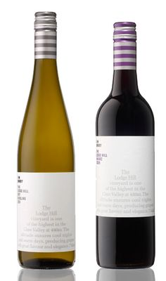 Jim Barry Wines - The Lodge Hill Dry Riesling, The Lodge Hill Shiraz #winelable